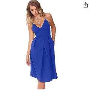 Dresses & Skirts - Blue cocktail dress knee length